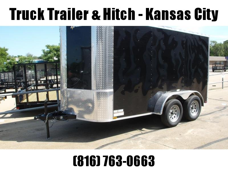 "Enclosed Trailer 6 X 12  Ramp  Black In Color 7000 GVW 6' 3"" Interior Height"