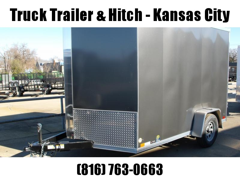 """Enclosed Trailer 7 X 10 Ramp Electric Brakes 6' 6""""  Interior Two Tone  White Frt/ Silver Mist/Rear"""