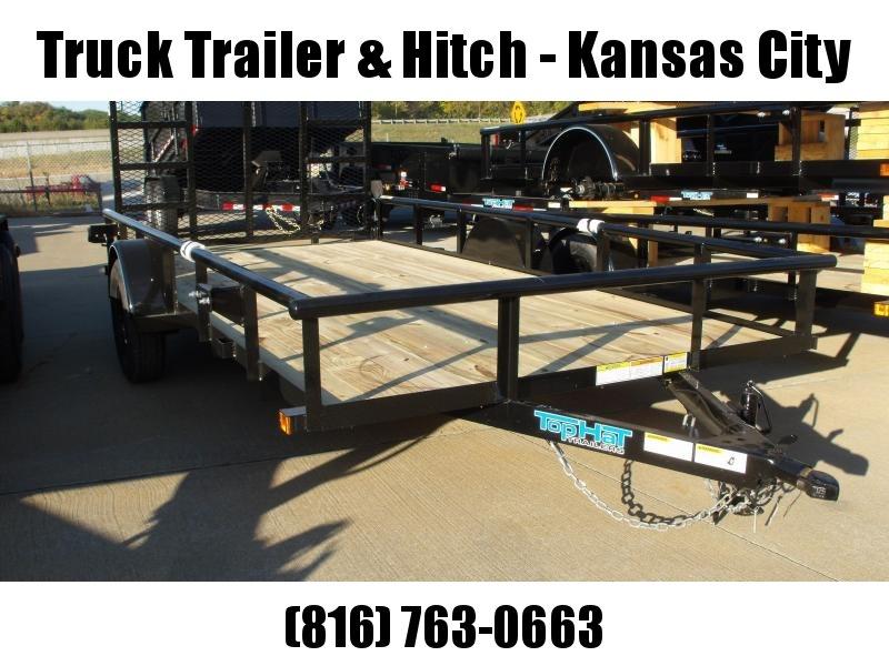 """Utility Trailer 83"""" x 14    Pipe Rail Top  Rear  LAY-N-TAIL GATE  Gate 2990 Axle"""