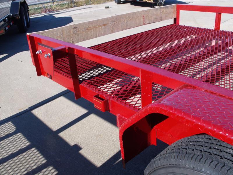 ATV Trailer 83 X 18 Mesh Floor Number 6 Very Stiff 7000 GVWR  Candy Apple Red