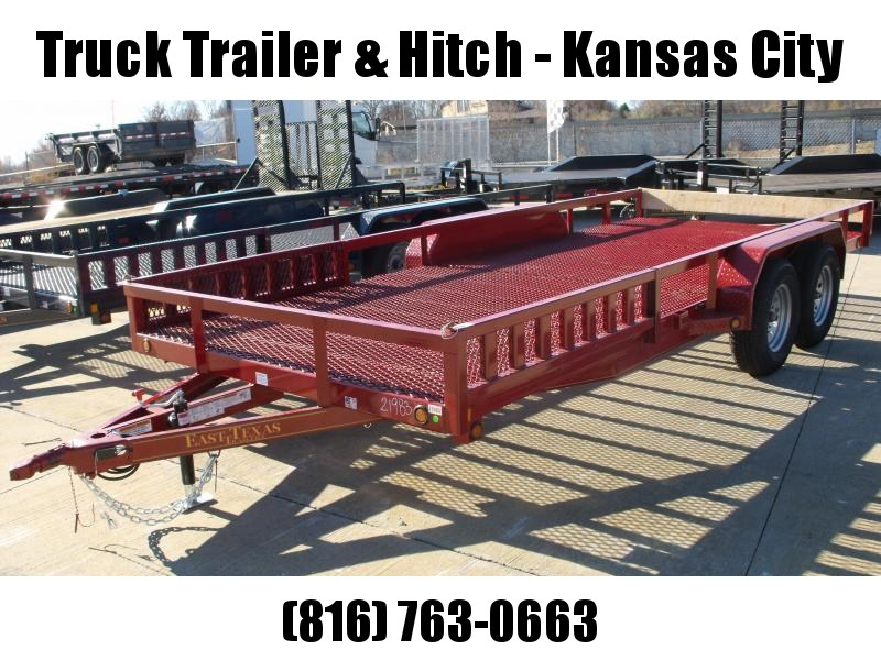 ATV Trailer 83 X 18 Mesh Floor Number 6 Very Stiff 7000 GVWR  Candy Apple Red