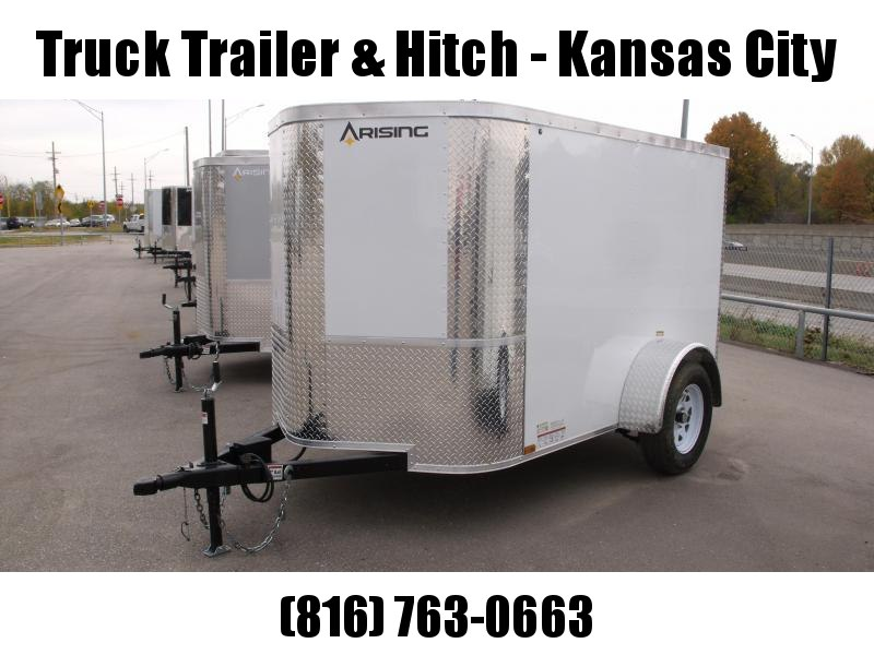 Enclosed Trailer  5 X 8 Ramp 5' Height  White In Color