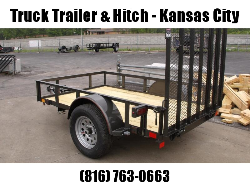 Utility Trailer 5 x 8 Spring Assisted Ramp  2990 # Axle Charcoal In Color
