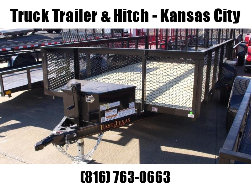 High-Wall Landscape Trailer 83 X 12 Electric Brakes Spring Assisted Gate  Tool Box