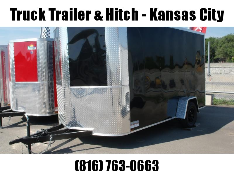 Enclosed Trailer 7 X 12 RAMP  DOOR 2990 GVW   7'   Height Black   In Color