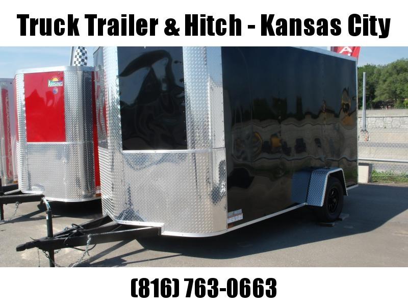 Enclosed Trailer 7 X 12 RAMP  DOOR 2990 GVW   7'   Height Black   In Color