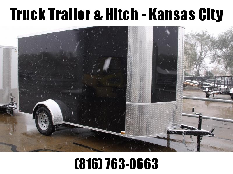 "Enclosed Trailer 6 X 12 Ramp  DOORS  6' 6"" Interior All Tube Construction"