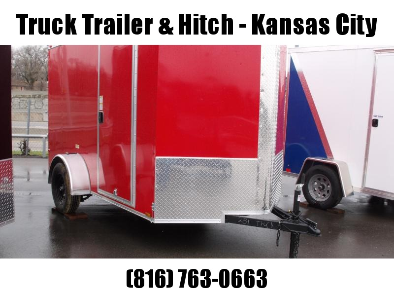 "Enclosed Trailer 6 X 10 Ramp  6' 3""   Interior Red In Color  All Tube Construction"