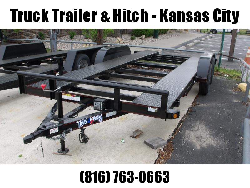 "Car Hauler 83"" X 18 Open Center 7000 GVW Removable Fenders Brakes"