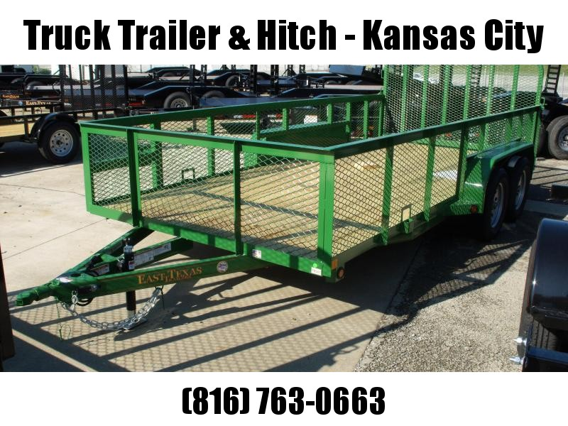 High-Wall  Trailer Landscape Trailer 83 X 16  Ramp   John Deer Green   7000 GVW