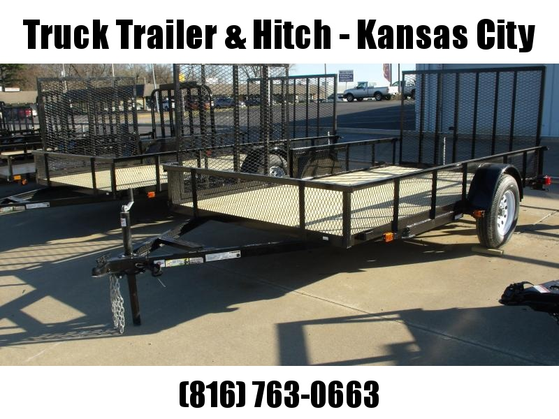 Utility Trailer  6 X 12 Side Load/ Rear Load Wood Deck  Trailer With  Ramp 2990 Axle