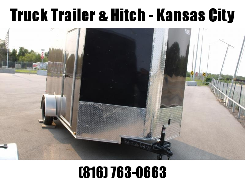 Enclosed Trailer 7 X 12 Ramp  7'  Interior Electric Brakes 3500 LB Axle Charcoal  In Color  Tube Construction