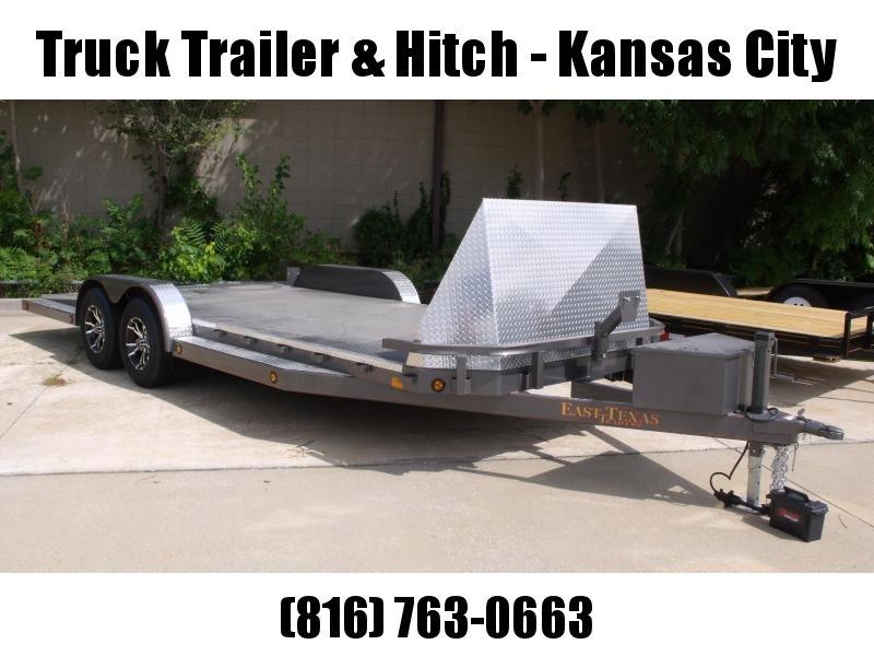 Car Hauler 83 X 20 Dream Hauler Split Tail  Metal Deck Dove 7000 GVW 4 WL Brakes Charcoal  In Color