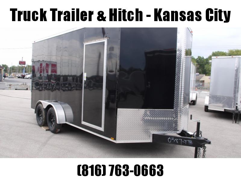 Enclosed Trailer  7 x 16  Ramp 7'  Interior BLACK In Color Ramp Door  7000 GVWR