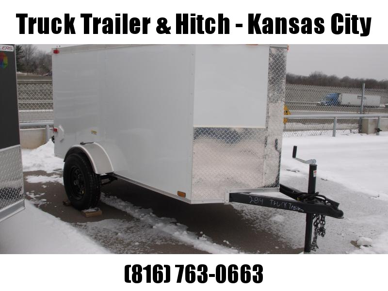 Enclosed Trailer 4 x 8 Enclosed Cargo Trailer Ramp Silver In Color