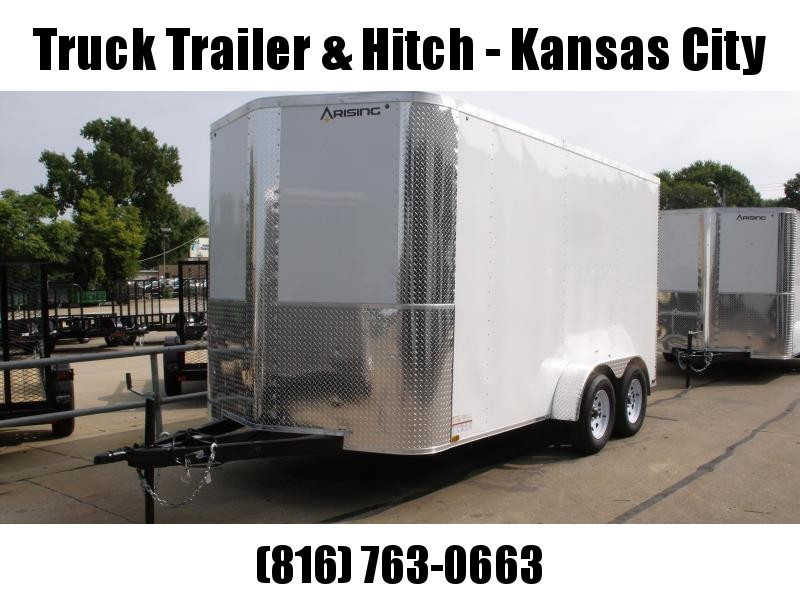 Enclosed Trailer 7 X 14  Ramp  White In Color  7000 GVW  7'  Interior Height