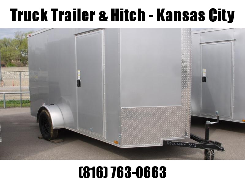 "Enclosed Trailer 6 X 12 Ramp  81""   Interior Silver Mist  In Color  All Tube Construction"