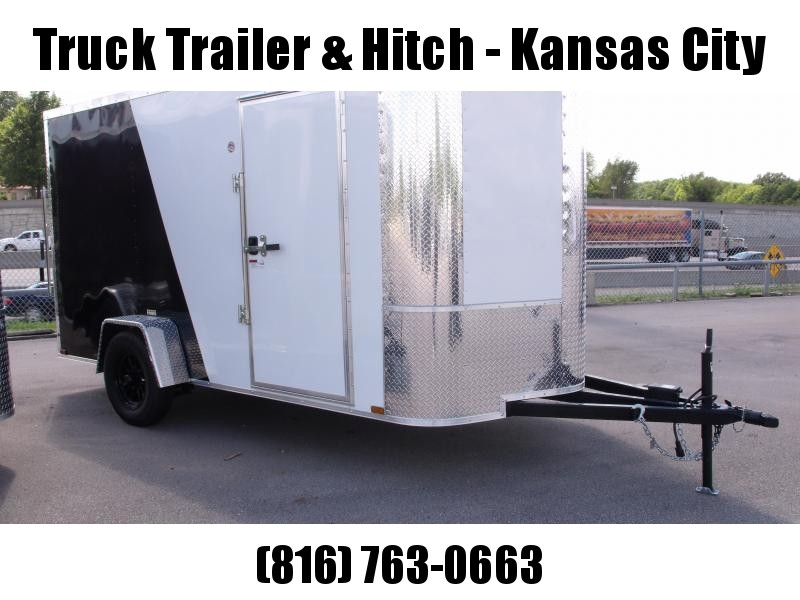 Enclosed Trailer 6 X 12 Ramp All Tube Construction Two Tone In Color White Front/Black Rear