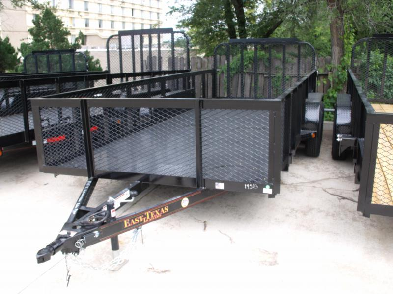 High-Wall  Metal Trailer Landscape Trailer 83 X 18  Ramp 7000 GVW