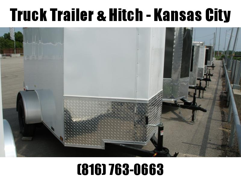 Enclosed Trailer 5 x 10  BARN DOOR    White In Color All Tube Construction