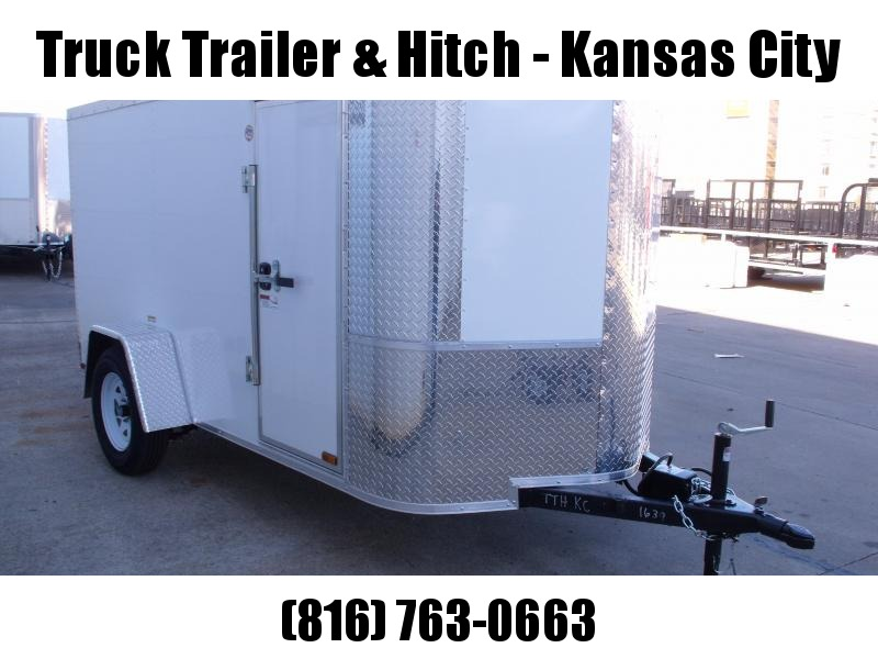 Enclosed Trailer 5 X 10 Ramp  Color WHITE In Color ALL TUBE Construction 5'  Interior Fits in the 7' garage