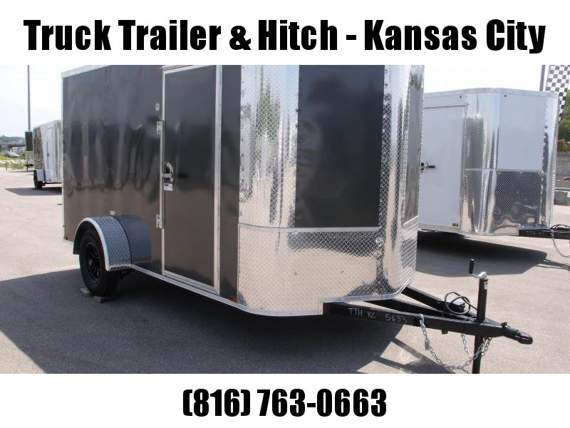 Enclosed Trailer 6 X 12 Ramp All Tube Construction Charcoal   In Color