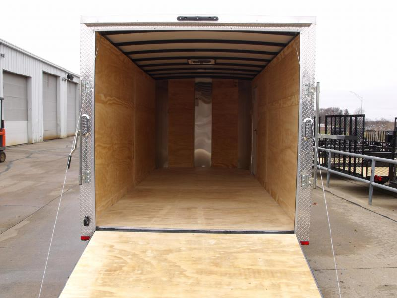 "Enclosed Trailer 7 X 16 Ramp 6' 3""  Height White In Color 7000 GVW ALL Tube Construction 4 WL Brakes"