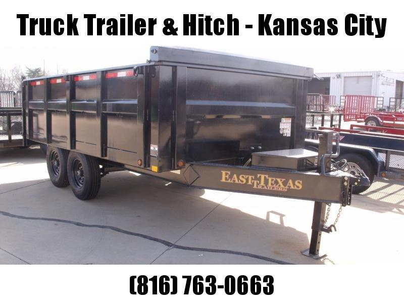 "Deck Over Dump Trailer 96"" X 14'  High Sides 3'  14000 GVWR  20K Inverted Scissor Hoist"