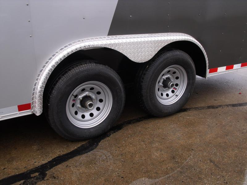 Enclosed Trailer 8.5 X 20 Ramp (Dove)  7 ' Interior 9990 GVW Two Tone In Color  ALL TUBE Construction  4 Wheel Brakes