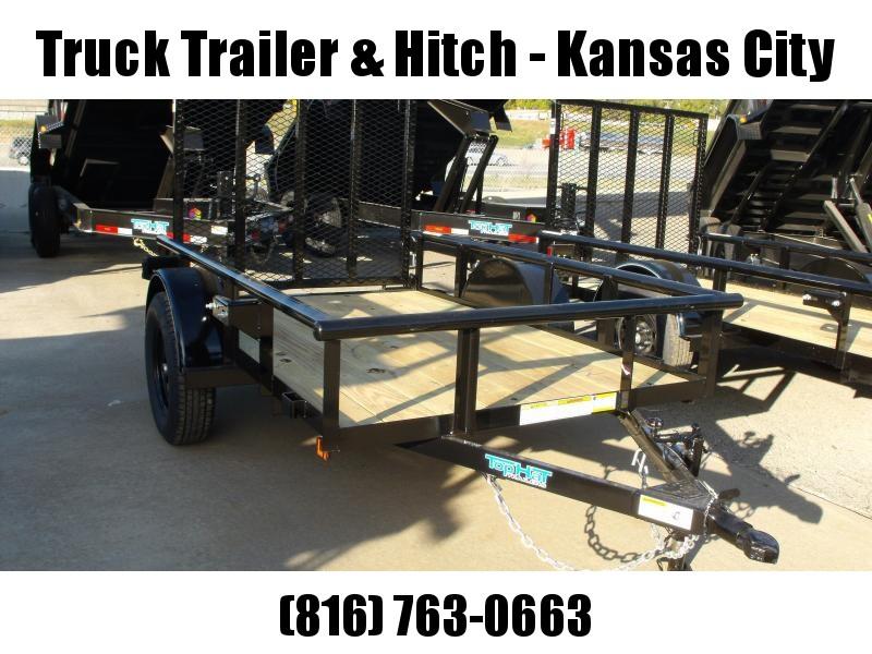 "Utility Trailer 5 X 8 Ramp Pipe Rail Top  48"" Lay-N-Tailgate"