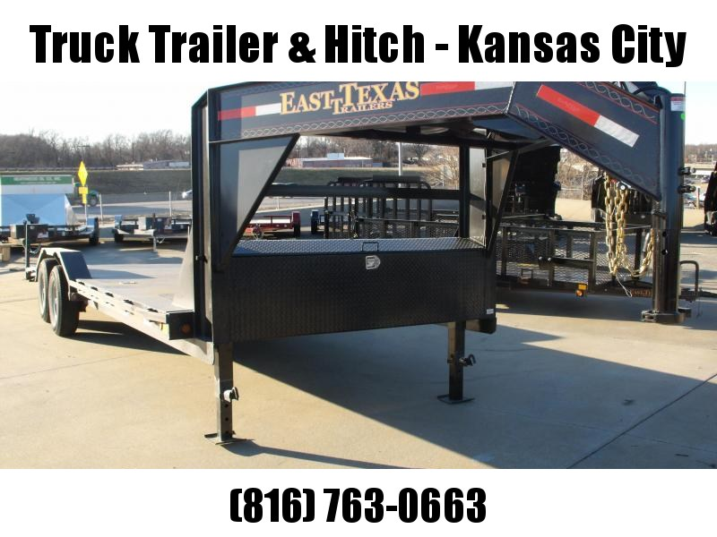 Gooseneck Car Hauler Equipment Trailer 102 X 24    Drive Over Fenders Combo Ramps  14000 GVW