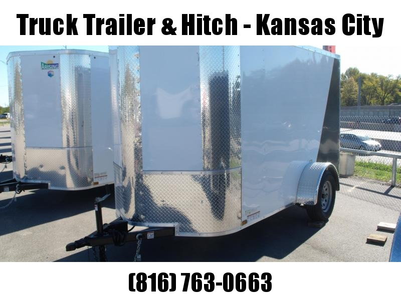 Enclosed Trailer  5 X 10 Ramp 6' Height Two Tone White Frt/Charcoal Rear