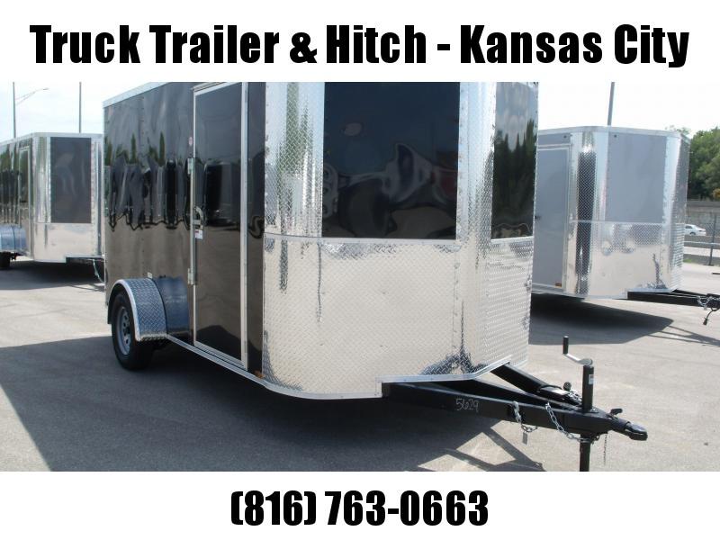 """Enclosed Trailer 7 X 12 RAMP  DOOR 2990 GVW   6' 6""""   Height Black  In Color"""