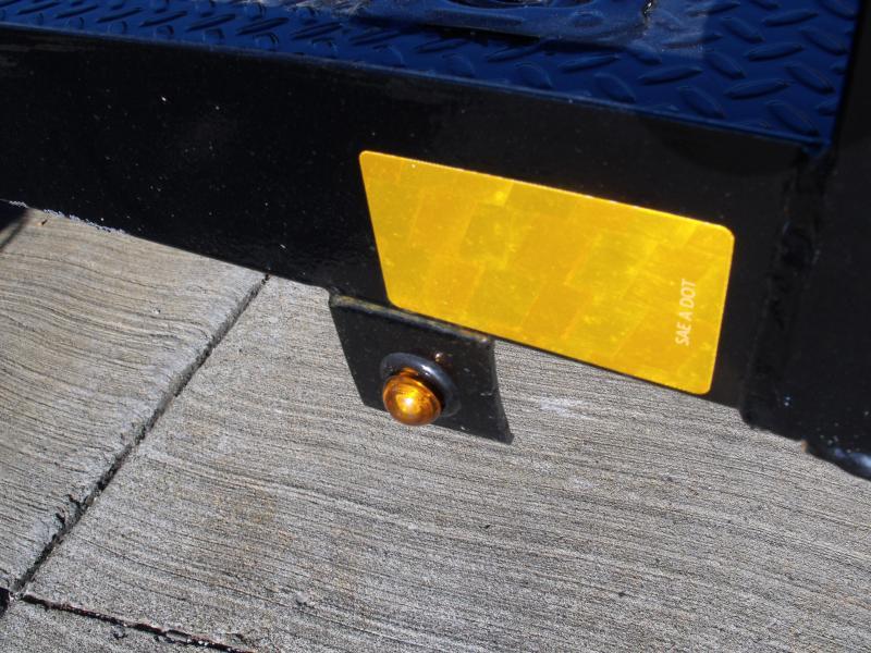 Premium Utility 77 X 12 Metal Deck Black In Color Spring Assist  Gate LED's