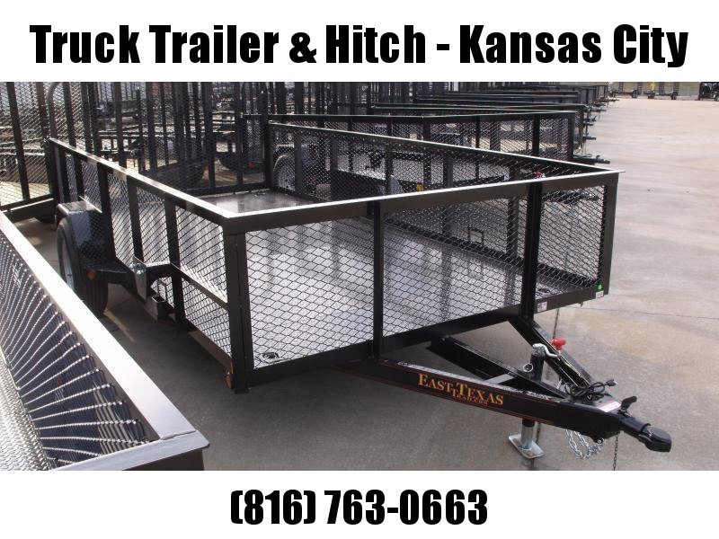 High-Wall Landscape Trailer Steel Deck 83 X 14 Spring Assisted Gate