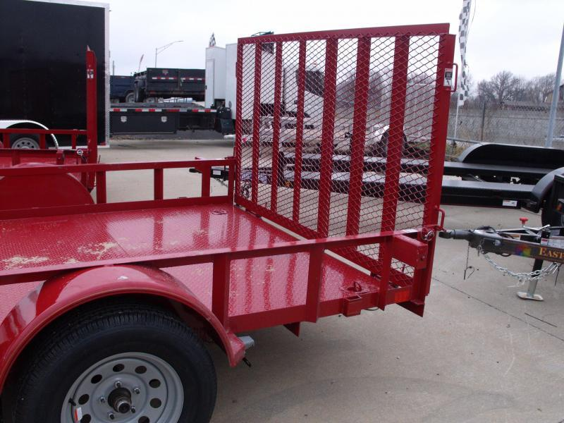 Premium Utility 77 X 12 Metal Deck  Candy Apple Red Spring Assist  Gate LED's