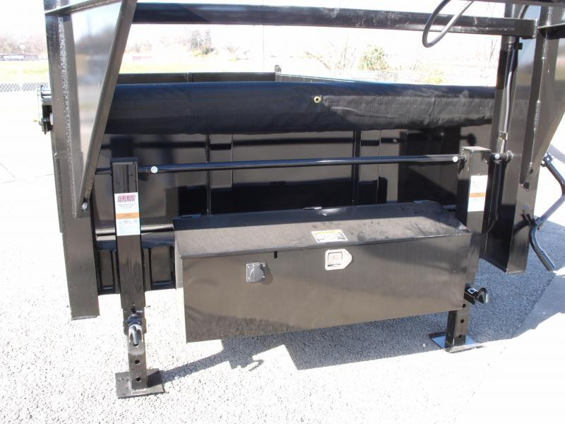 Goose Neck Dump Trailer 83 X 14  Power Up/ Power Down    14000 GVW   Dump Trailer