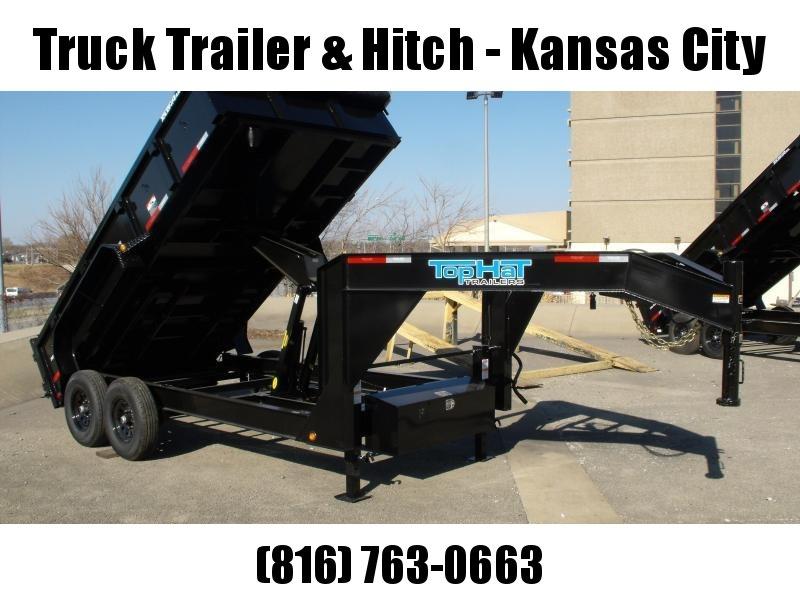 Goose Neck Dump Trailer 83 X 14  Power Up/ Power Down    14000 GVW   Dump Trailer