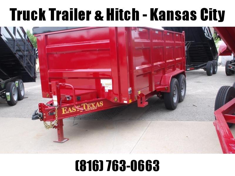 Dump Trailer  80 X 14  I-Beam Type 16000 Gvw Self Adjusting Brakes  Tarp Included 20K  Inverted Scissor Hoist Candy Apple Red