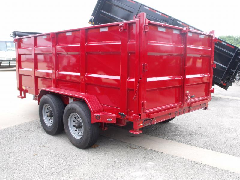Dump Trailer  80 X 14  I-Beam Type 16000 Gvw Self Adjusting Brakes  Tarp Included 20K  Inverted Scissor Hoist Candy Apple Red
