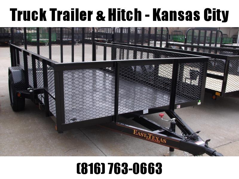 High-Wall Landscape Trailer 83 X 12 Metal Deck Spring Assisted Gate  Black  In Color