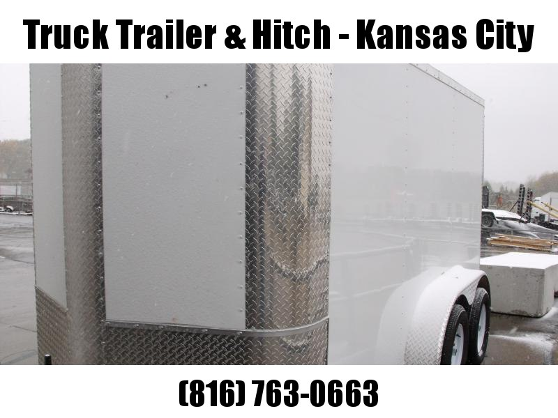"""Enclosed Trailer 6 X 12  Ramp  White In Color 7000 GVW 6' 3"""" Interior Height"""