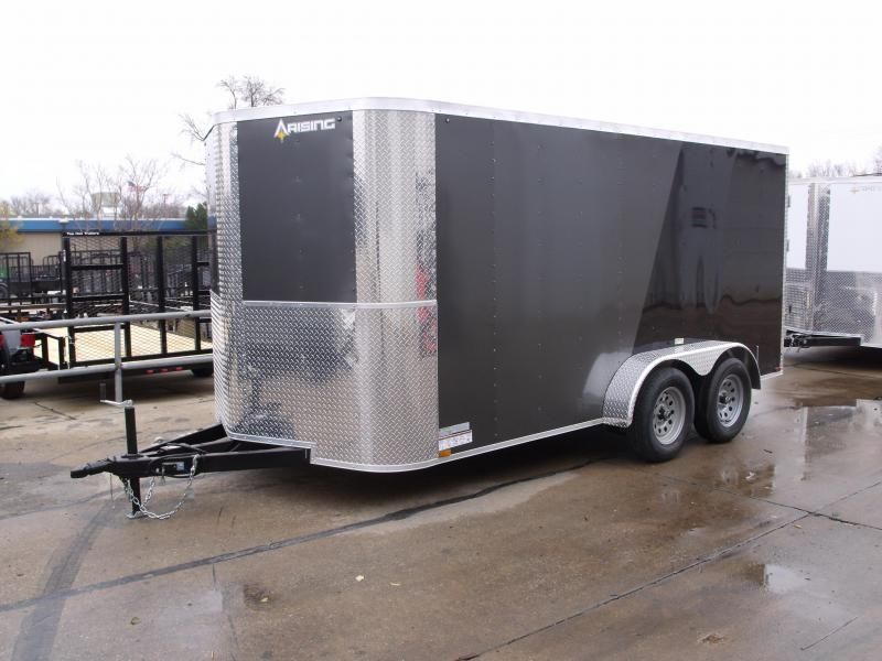 "Enclosed Trailer 7 X 14 BARN DOOR HD Hinges  Charcoal In Color 7000 GVW 6' 3"" Height"