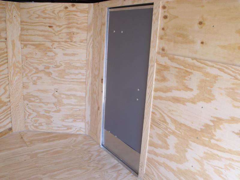 Enclosed Trailer 6 X 12 Ramp  6'  Interior White  In Color  All Tube Construction