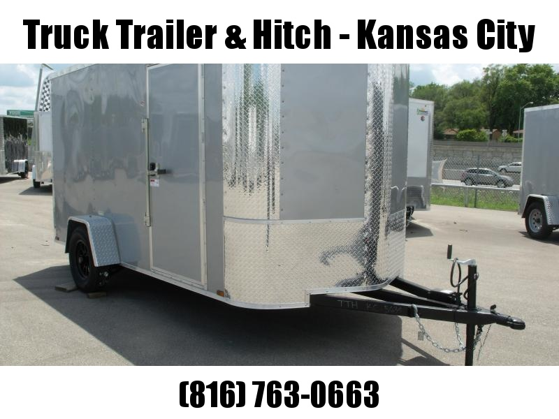 Enclosed Trailer 6 X 12 Ramp All Tube Construction Silver Mist  In Color