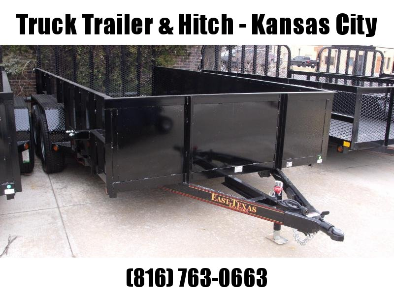 High-Wall Solid Sides Landscape Trailer 83 X 14  Ramp 7000 GVW