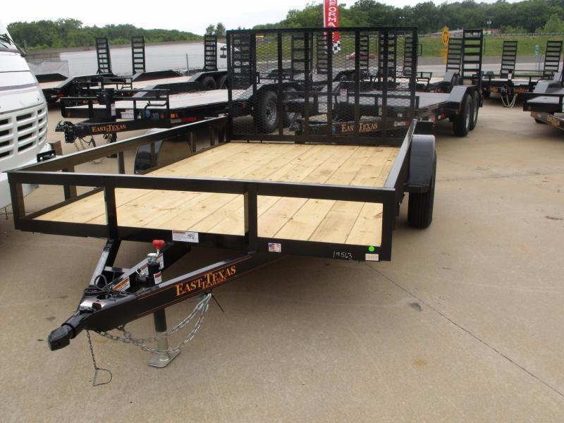 Utility Trailer 83 x 12  Spring Assisted  Ramp 2990 # Axle