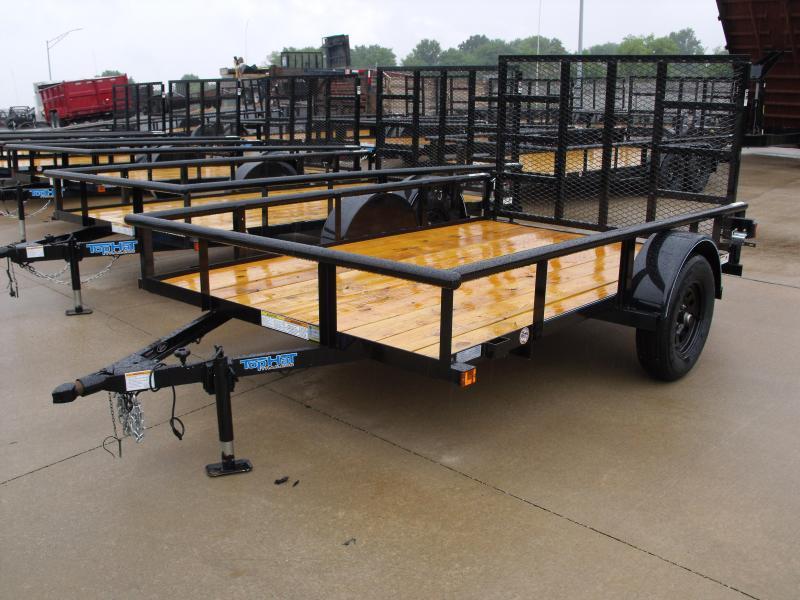 Utility Trailer 77 x 10   Pipe Rail Top  Rear   Gate 2990 Axle