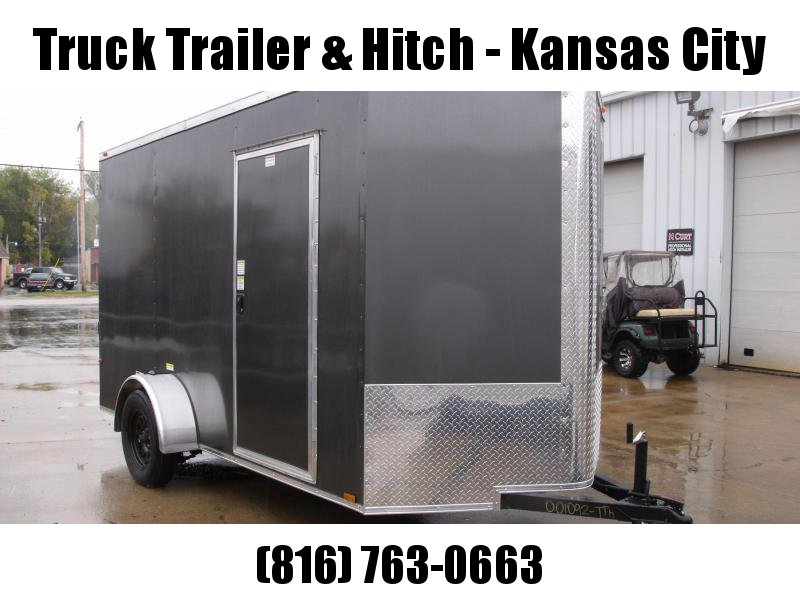 """Enclosed Trailer 6 X 12 Ramp  6' 5""""  Interior CHARCOAL  In Color  All Tube Construction"""