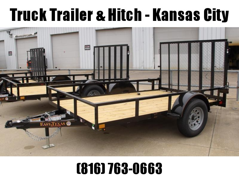 Utility Trailer 77 x 10  Spring Assisted  Ramp 2990 # Axle